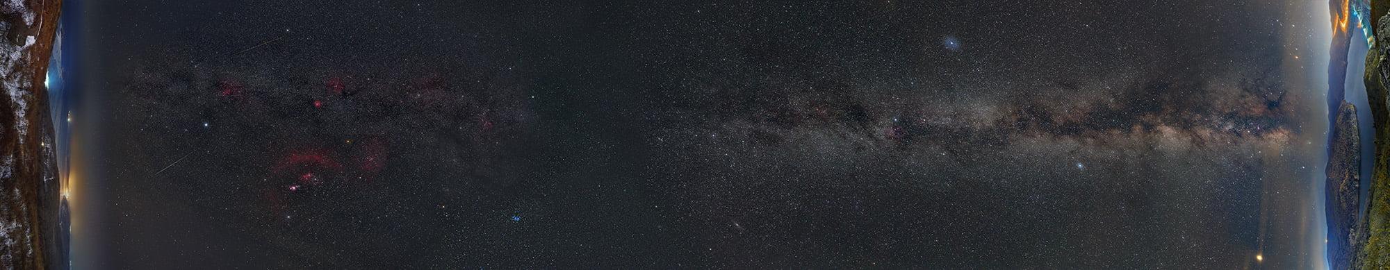 Участок Млечного Пути, видимый на территории Приморского края в течение года.