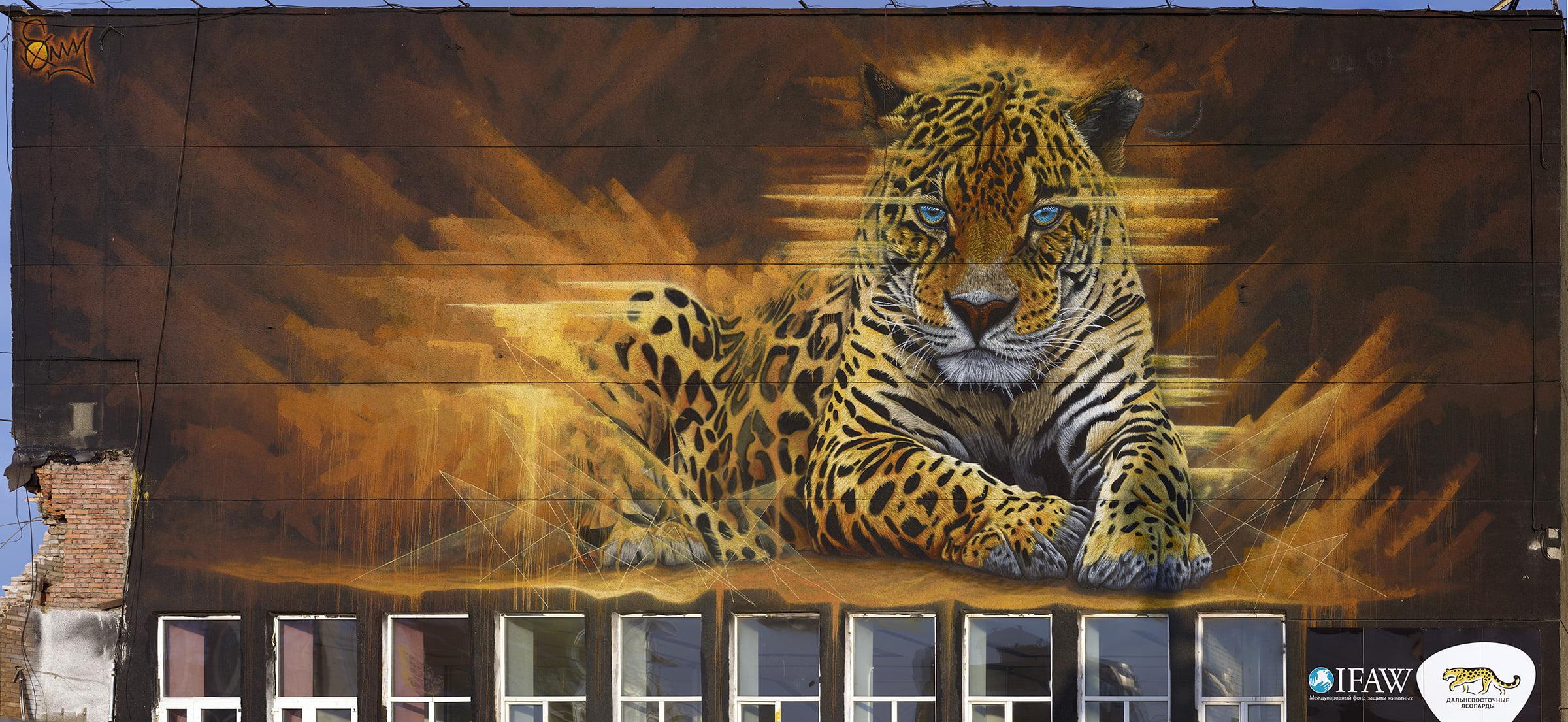 Гигапиксельная фотография разрушенного граффити